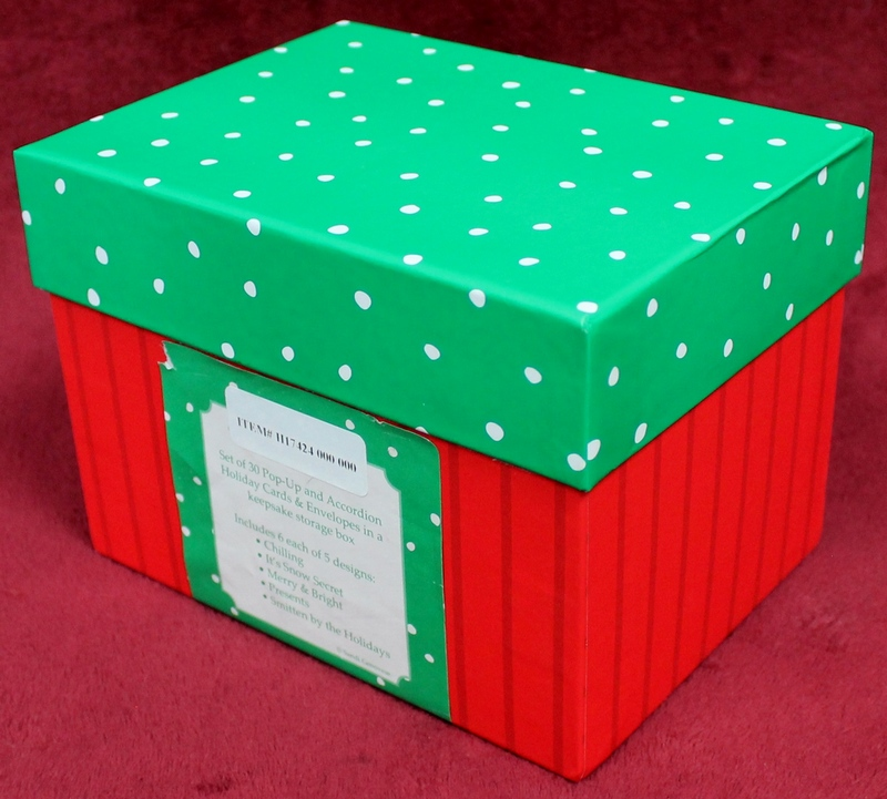 Set of 30 Pop Up Holiday Greeting Cards with StorageBox from QVC Item H17424