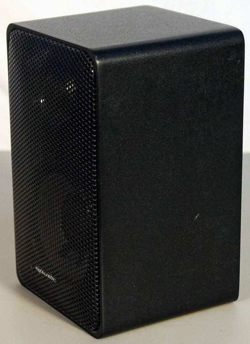 Realistic Minimus 7 Speaker (one only) in black metal cabinet