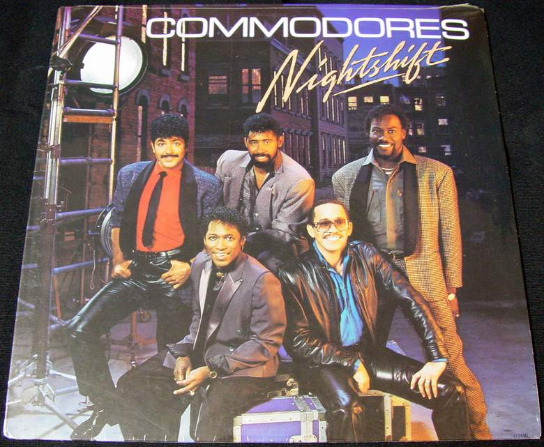 THE COMMODORES NIGHTSHIFT 1985 Motown Records LP (6124ML)