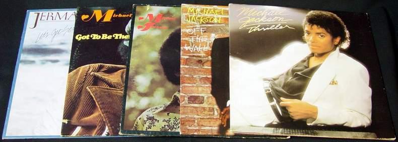4 Michael Jackson Albums and 1 Jermaine Jackson Album