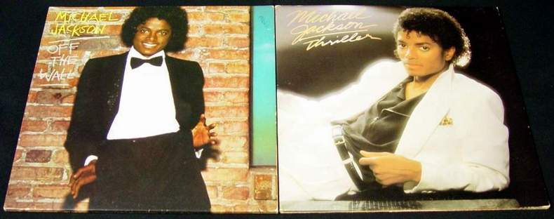 Off the Wall and Thriller - Michael Jackson Albums LPs
