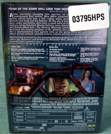 Resident Evil: Apocalypse - 2-Disc Set - Virtually New Pristine Discs