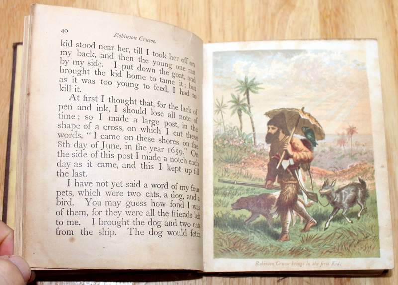 Robinson Crusoe in Words of One Syllable Publishers: Cushings & Bailey, Baltimore 1869