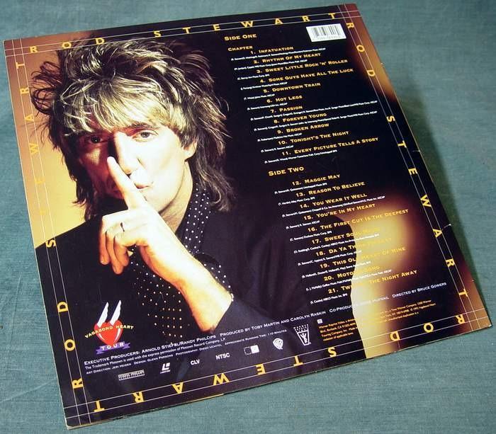 Rod Stewart Vagabond Heart Tour Laserdisc 38300-6