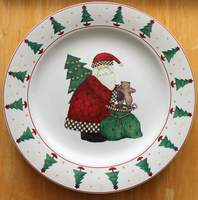 Debbie Mumm MAGIC OF SANTA 12-1/4 inch PLATTER Chop Plate by SAKURA