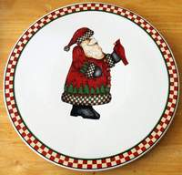 SAKURA Debbie Mumm Magic of Santa Christmas Xmas Trivet Hot Plate