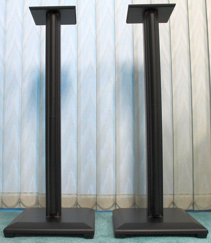 Pair of SANUS NF30B Natural Foundations 30in. Black SPEAKER STANDS