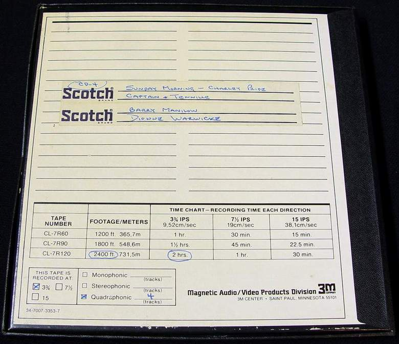 Scotch 7 inch High Quality Quadraphonic CD-4 Tape Reel 1/4 inch Recording Tape