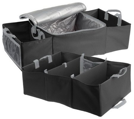 Set of 2 Folding Trunk & Auto Organizers with Leak Proof Hot or Cold Storage