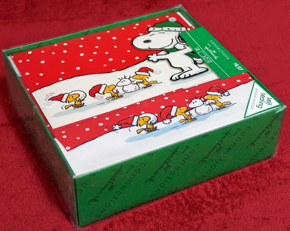 18 Peanuts Snoopy Connections Hallmark Christmas Cards and Matching ...