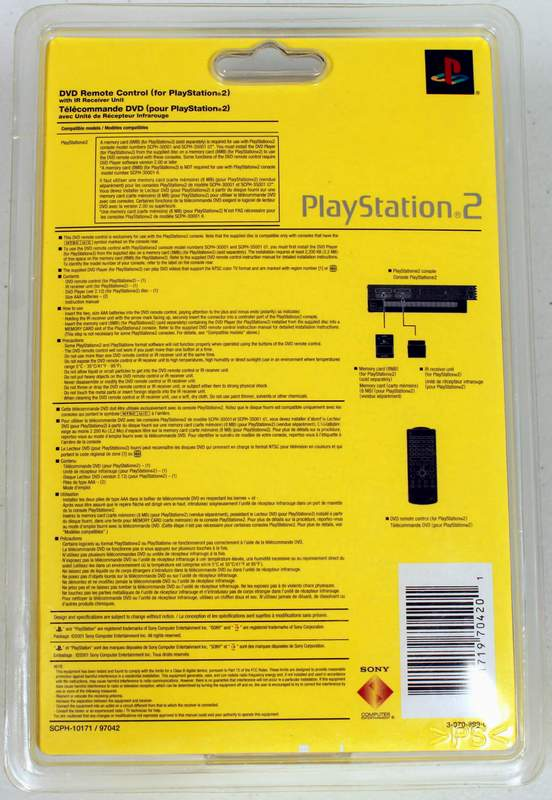 SONY Playstation 2 – PS2 DVD Remote Control
