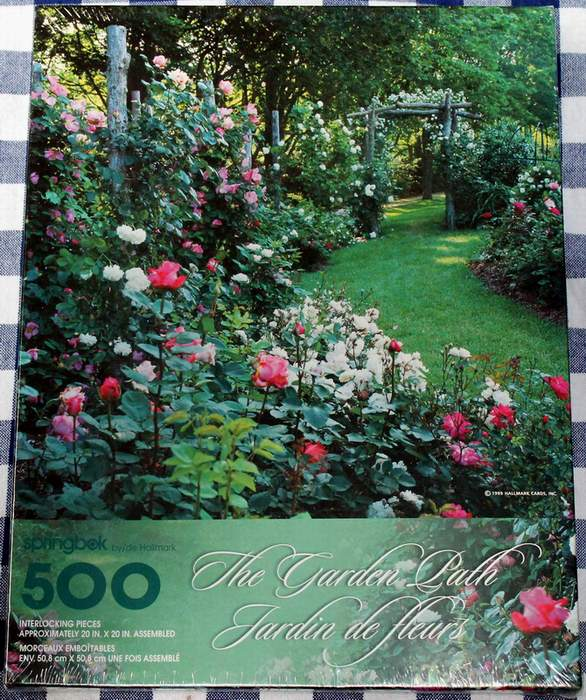 Springbok 500 piece Jigsaw Puzzle THE GARDEN PATH - PZL2494