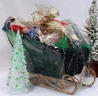 Large Saint Nick's Sleigh Basket