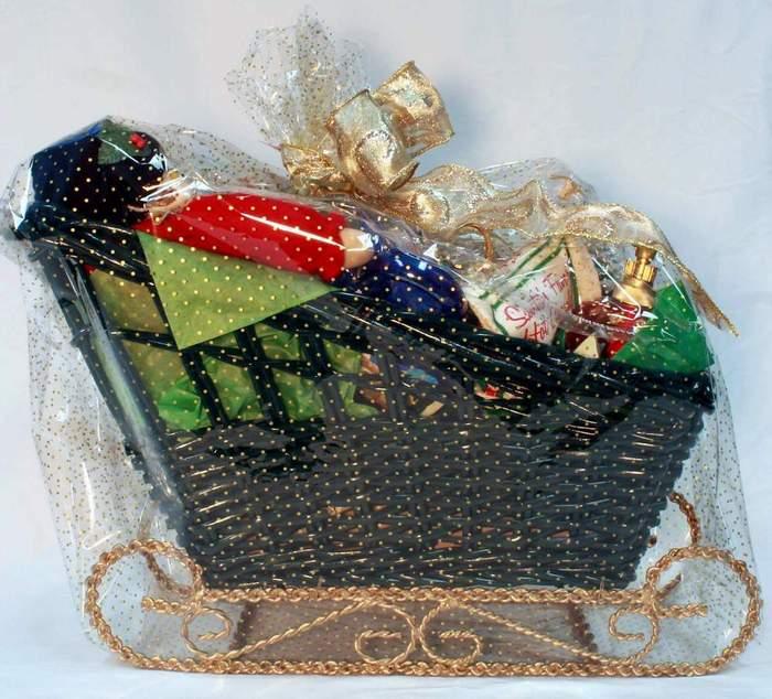 Large Saint Nick's Sleigh Gift Basket