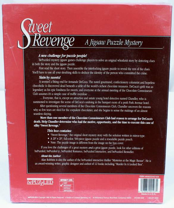 Sweet Revenge, A Jigsaw Puzzle Mystery by Alan Robbins - BRAND NEW - SEALED