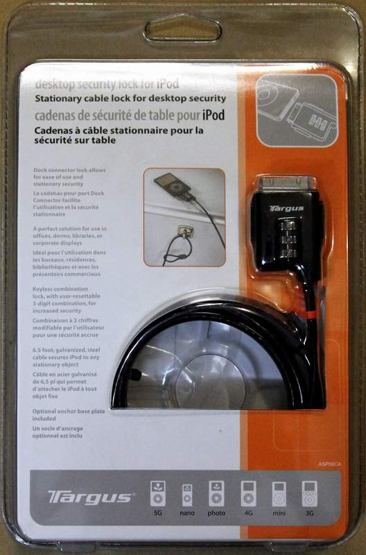 Targus Desktop Security Lock for iPod ASP06CA
