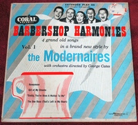 The Modernaires - Barbershop Harmonies - EP 45-rpm CORAL Records EC-81031