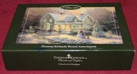 Thomas Kinkade Boxed Assortment - 20 Christmas Cards & Envelopes Sunrise Greetings - copyright 2006