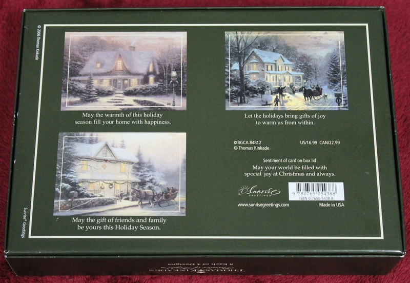 Thomas Kinkade Boxed Assortment - 20 Christmas Cards & Envelopes Sunrise Greetings