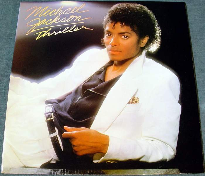 "Michael Jackson ""Thriller"" LP Record Album Epic Records Number QE-38112"