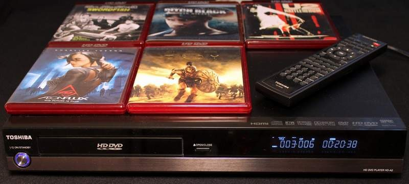 Toshiba HD-A2KU HD DVD Player including 5 HD Movies, with Remote, Manual and Cables