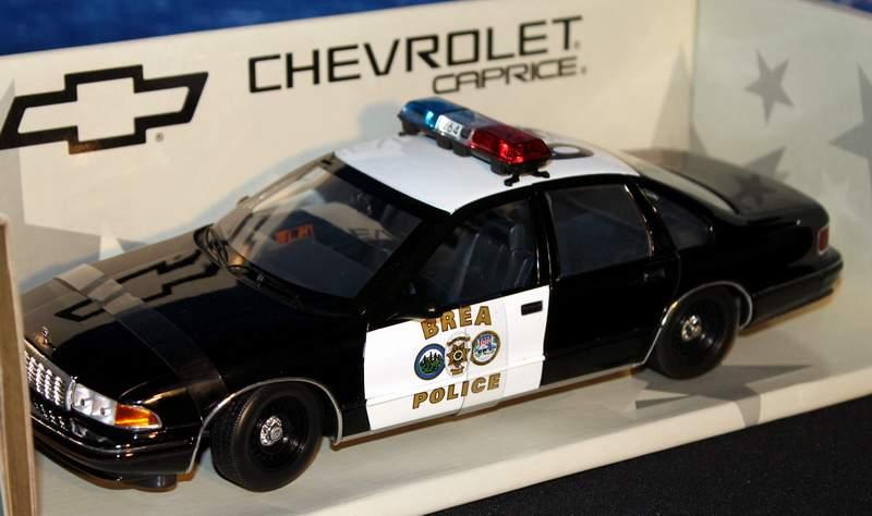 Brea Yorba Linda CA Police Chevy Caprice UT 1/18 Diecast
