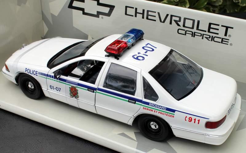 BROSSARD Quebec Police Chevy Caprice UT 1/18 Diecast Model UT0597