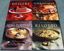 4 Williams-Sonoma Cookbooks: Dessert ~ Christmas ~ Hors D'Oeuvre ~ Risotto
