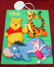 Disney Winnie-the-Pooh, Tigger, Eeyore, Piglet, Rare, Out-of-Print Gift Shopping Bag