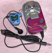 Tiger Hit Clips Downloader with docking station and MP3 Player Edition with batteries.  Includes the 120 second smart media clip.